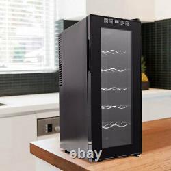 12 Bottle Wine Cooler 35L Digital Touch Screen Wine Drinks Holder Fridge Cabinet