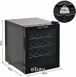 16 Bottle Wine Cooler Fridge Refrigerator Mini Bar Touch Control 11-18°C HOMCOM