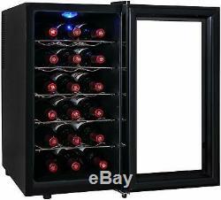18 Wine Cooler Bottle Drinks Refrigerator Chiller Fridge LED Freestanding Dual