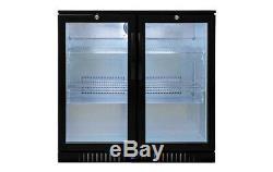 2 Door Undercounter Bottle Cooler Bottle Fridge Wine Beer Refrigeration