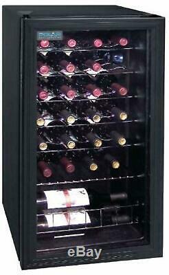 28 Bottle Polar Wine Bar Cooler Drinks Chiller Double Glazed Door Fridge
