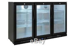 3 Door Undercounter Bottle Cooler Bottle Fridge Wine Beer Refrigeration