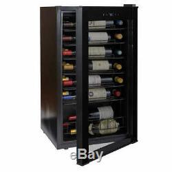 36-Bottle Wine Cooler. Wine Enthusiast VinoView Black Stainless Steel