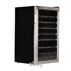 83 cm Stainless Steel Glass Door Compressor Fridge 35 Bottles Beer&Wine Cooler
