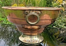 ANTIQUE 6 BOTTLE COPPER CHAMPAGNE BUCKET ICE bucket WINE COOLER WEDDINGS 40 CM