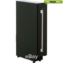 Amica AWC150BL Wine Cooler, 15cm Black Dual Zone 6 Bottle Cabinet