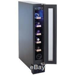 Amica AWC150SS 15cm Free Standing S/ Steel Wine Cooler 6 Bottles -HW173347