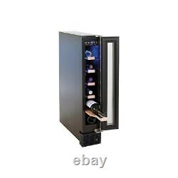 Amica AWC150SS 6 Bottle Freestanding Under Counter Wine Cooler Single Zone 15cm