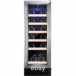 Amica AWC300SS 19 Bottle Freestanding Under Counter Wine Cooler Singlel Zone 30c