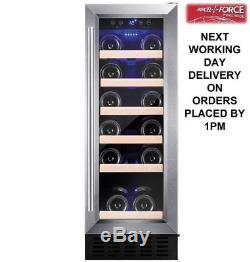 Amica AWC300SS 30cm 19 Bottle Free Standing Wine Cooler In Stainless Steel NEW