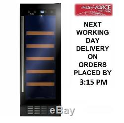 Amica AWC301BL 30cm 20 Bottles Black A Rated Wine Cooler + 2 Year Warranty