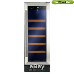 Amica AWC301SS 30cm Wine Cooler, Stainless Steel, 20 Bottle Cabinet