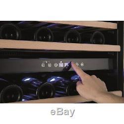 Amica AWC600BL 46 Bottle 60cm Freestanding Wine Cooler Black AWC600BL