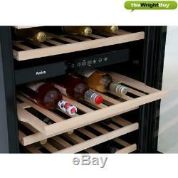 Amica AWC600BL Wine Cooler, 60cm Black Dual Zone 46 Bottle Cabinet
