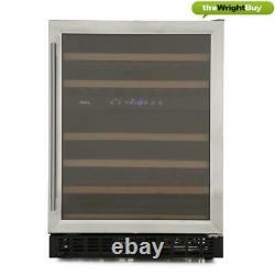Amica AWC600SS Wine Cooler, 60cm Stainless Steel Dual Zone 46 Bottle Cabinet