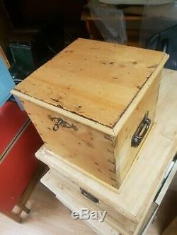 Antique Pine Bottle Chest Box Carry Case Very Rare and Unusual Wine Cooler