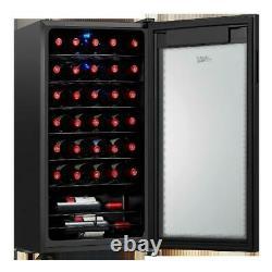 Arctic King Premium 34-Bottle Wine Cooler Touch Control LED Lighting Black NEW