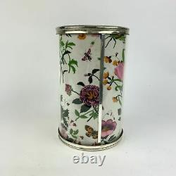 Authentic Gucci Vintage Silver Metal Flora Wine Cooler Bottle Holder Home Decor