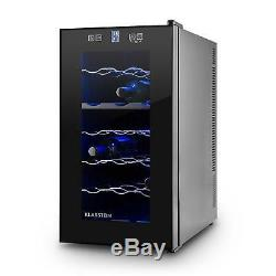 B-Stock Wine Cooler Fridge Drinks Chiller Refrigerator 18 Bottles Beer LED T