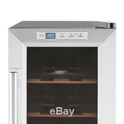 B-Stock Wine Cooler Fridge Refrigerator Bar Hotel Restaurant 8 Bottles Glass W