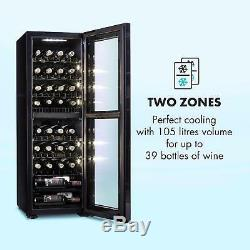 B-Stock Wine Cooler Fridge Refrigerator drinks beer chiller105l 39 Bottles Bla