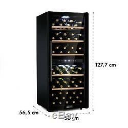 B-Stock Wine Fridge Refrigerator Drinks cooler chiller 102 bottles 100W Steel