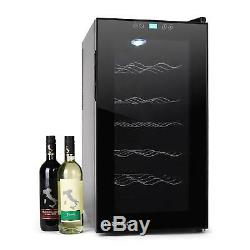 B-Stock Wine Refrigerator mini cooler 52 litre 18 Bottles double insulated gla