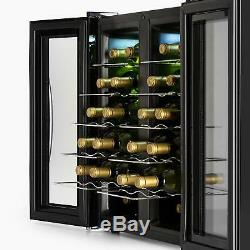 B-Stock Wine cooler Fridge Big Refrigerator Buit-in 24 Bottles Touch 2 Glass D