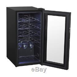 Baridi 15 Bottle Wine Cooler, Fridge, Touch Screen, LED, Low Energy A, Black
