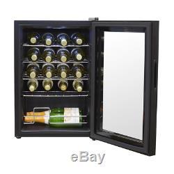 Baridi 20 Bottle Wine Cooler, Fridge, Touch Screen, LED, Low Energy A, Black