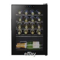 Baridi 20 Bottle Wine Cooler, Fridge, Touch Screen, LED, Low Energy A, Black NEW