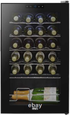 Baridi 24 Bottle Wine Cooler, Fridge, Touch Screen, LED, Low Energy B, Black