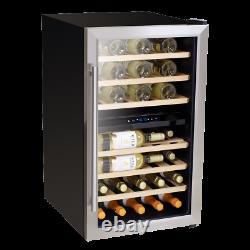 Baridi 43 Bottle Dual Zone Wine Cooler Fridge, Touch Screen Controls, LED Refu