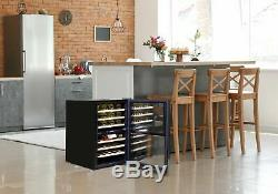 Baridi 43 Bottle Dual Zone Wine Cooler, Fridge, Touch Screen Controls, LED Sta