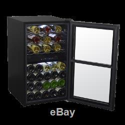 Baridi 43 Bottle Dual Zone Wine Cooler, Fridge, Touch Screen, LED, Black