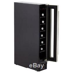 Baumatic BWC155SS Freestanding 7 Bottle Wine Cooler 6 Shelves Black