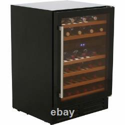 Belling 600BLKWC Unbranded Built In C G Wine Cooler Fits 46 Bottles Black New