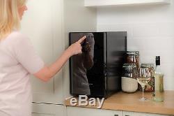 Bottle Drinks Cooler Fridge Bar Wine Beer Can Display Refrigerator Chiller Black