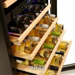Bottle Wine Cooler Dual Zone Montpellier WC181X Stainless Steel Reversible Door
