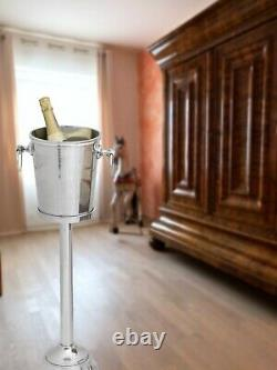 Bottle cooler wine/champagne chiller stand tall bucket shape 73cm aluminium