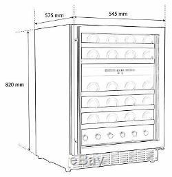 Bush WDZ46 46 Bottle Dual Zone Wine Cooler S/Steel