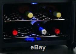 CASO Wine Cooler for up to 8 Bottles SEPARATE ZONES FOR RED AND WHITE