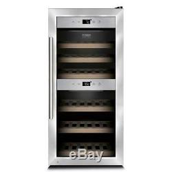 CASO WineComfort 24 Bottle Wine Cooler High End- Two separate temperature Zones