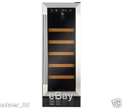 CDA 300mm Built In 18 Bottle Wine Cooler Drinks Chiller Stainless Steel FWC303SS