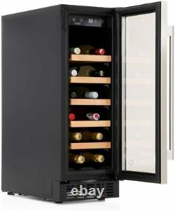 CDA FWC 304SS 30cm WINE COOLER 20 BOTTLE CAPACITY, BLACK/STAINLESS STEEL A RATED