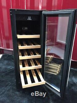 CDA FWC303BL Black 30cm 20 Bottle Standing Under Counter Wine Cooler