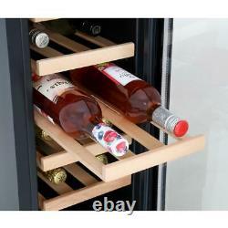 CDA FWC304BL 20 Bottle Freestanding Under Counter Wine Cooler Single Zone 30cm