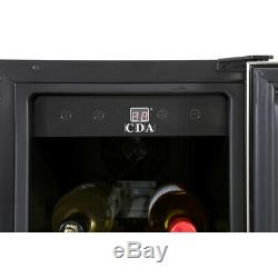 CDA FWC304SS 20 Bottle Free Standing Under Counter Stainless Steel Wine Cooler