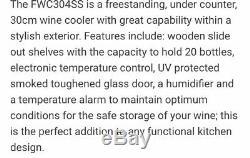 CDA FWC304SS 20 Bottle Stainless Steel Wine Cooler