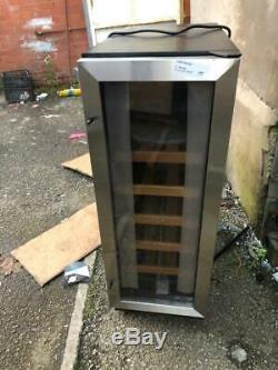 CDA FWC304SS 30cm 20 Bottle Free Standing Under Counter Wine Cooler In St/Steel